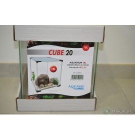 Cuve BETTA Cube 20 + couvercle - 25x25x30cm AQUAVIE